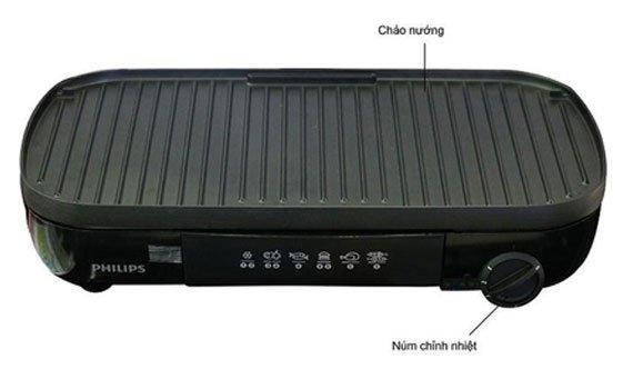 cach chon loai vi bep nuong dien khong khoi bbq nao tot Philips HD6320