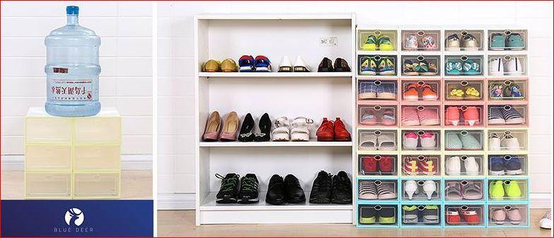 40k hộp đựng giày nhựa cứng khả năng chịu lực thẫm mỹ tốt