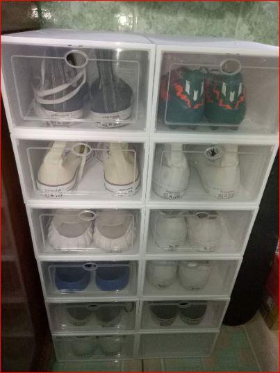 40k hộp đựng giày nhựa cứng trong suốt cao cấp
