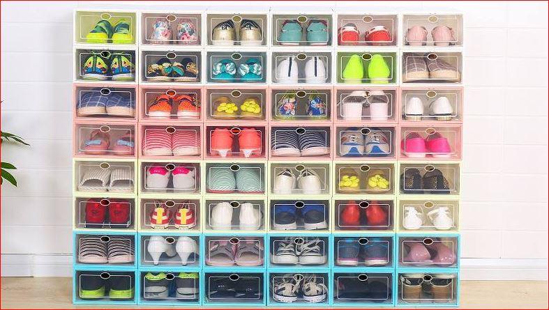 40k hộp đựng giày nhựa cứng xếp được nhiều tầng