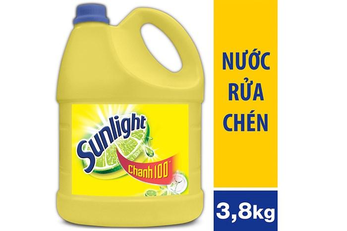 90k Nước rửa chén Sunlight Chanh 100 lít