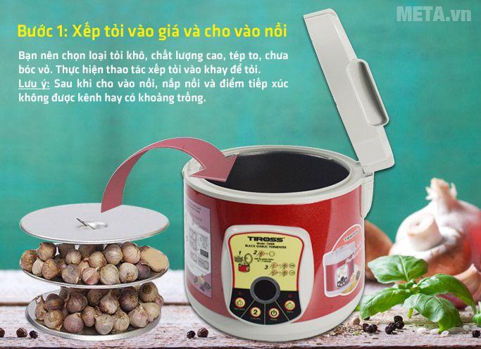 Bước 1 Cách làm tỏi đen với Máy làm tỏi đen Tiross 906 1