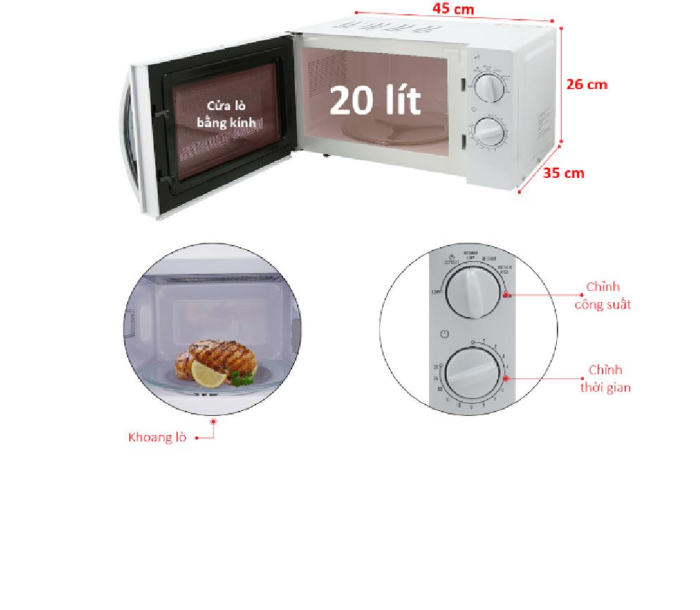 Cấu tạo lò vi sóng electrolux EMM2023