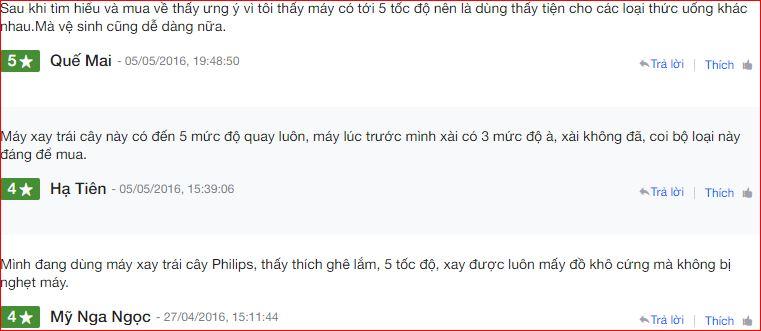 Nhận xét Máy Xay Sinh Tố Cầm Tay Philips HR2115 trên Nguyễn Kim