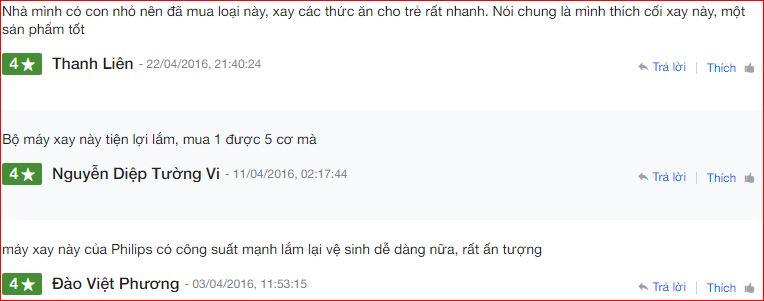Nhận xét Máy Xay Sinh Tố Cầm Tay Philips HR2118 trên Nguyễn Kim