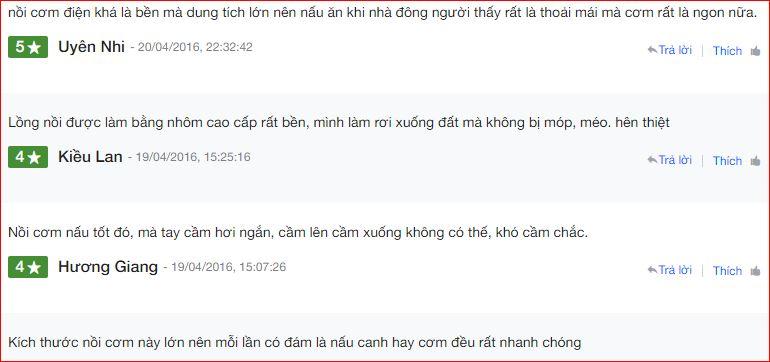 Nhận xét NỒI CƠM ĐIỆN SHARP KSH 555V trên Nguyễn Kim