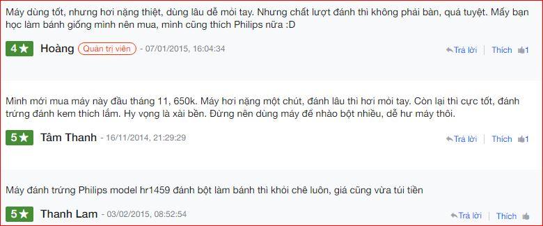 Nhận xét máy đánh trứng philips hr1459 trên Nguyễn Kim