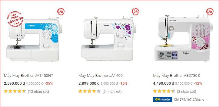 So sánh giá máy may mini CMD với hãng khác