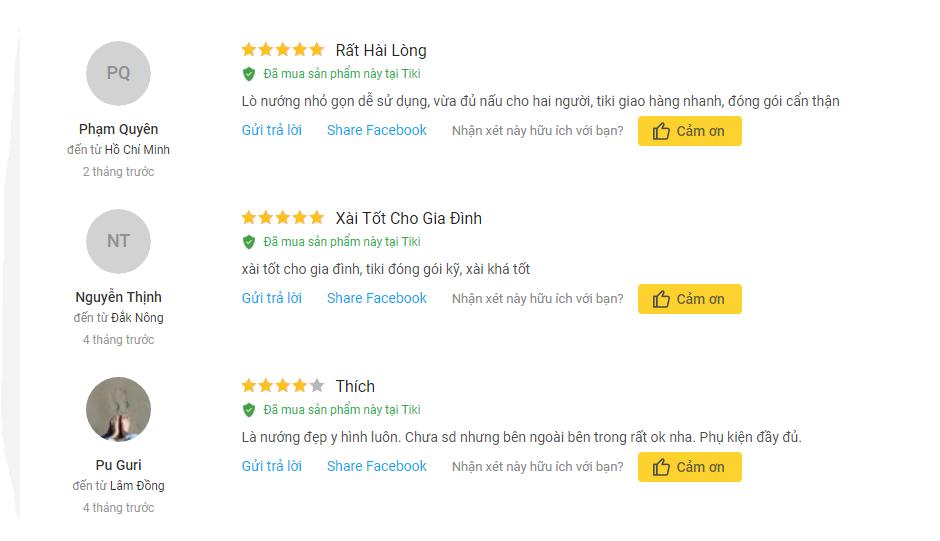 nh giá khách hàng mua lò nướng Sunhouse SHD4222 22lít trên TiKi
