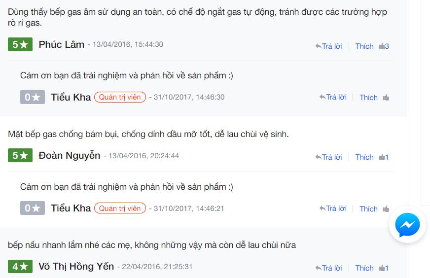 nh giá về bếp gas Electrolux EGT7627CK trên Nguyen Kim