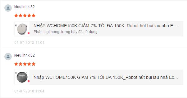 nh giá robot hút bụi Ecovacs M88 Shopee 1