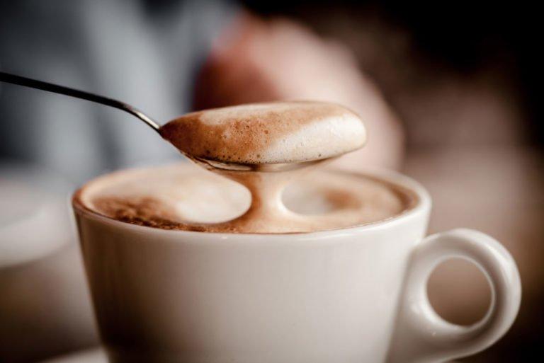cappuccino bọt sữa