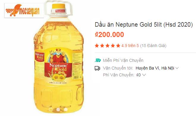 Ảnh đánh giá dầu ăn Neptune Gold 5L (Hsd 2020)