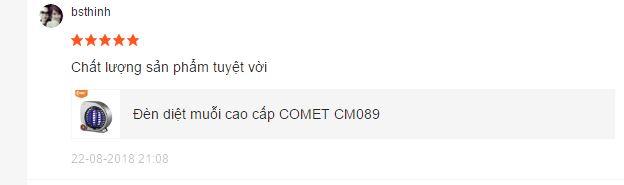 phản hồi đèn bắt muỗi Comet 089 2 1