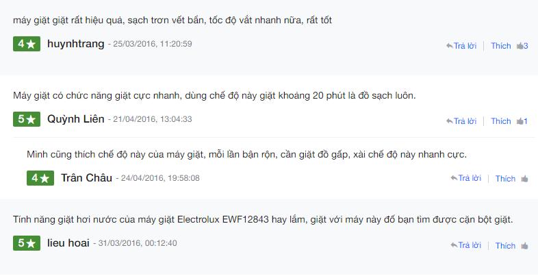 nh giá về máy giặt cửa ngang Electrolux EWF12843 tại Nguyenkim