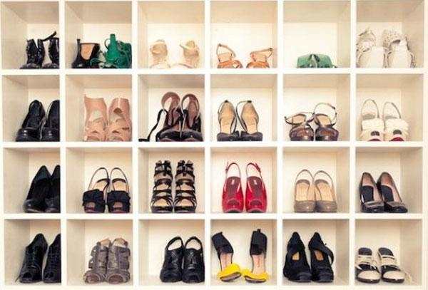 ý tưởng sắp xếp giày dép cho không gian sống đẹp hơn