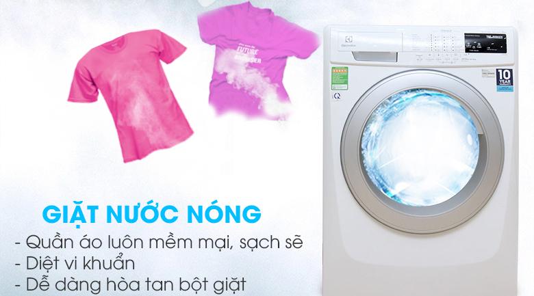Giặt nước nóng diệt vi khuẩn và dễ dàng hòa tan bột giặt
