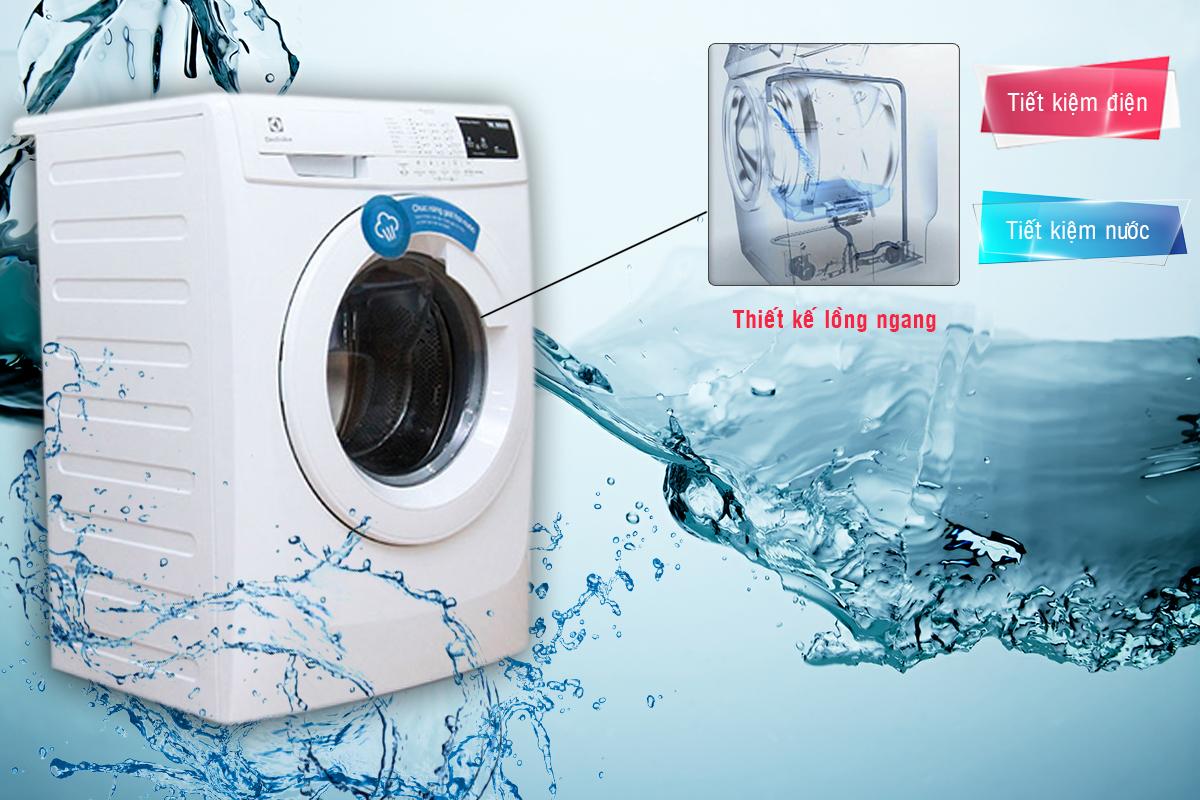 Máy Giặt Cửa Ngang Electrolux EWF80743 dùng tiết kiệm điện tiết kiệm nước