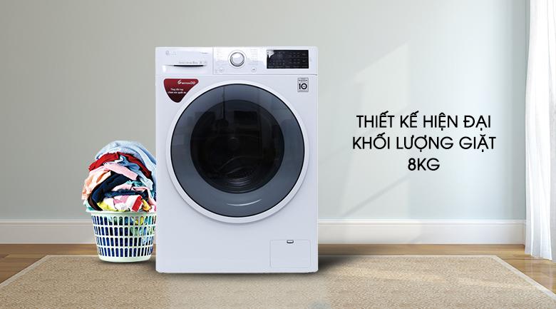 Máy giặt có thiết kế cửa trước hiện đại