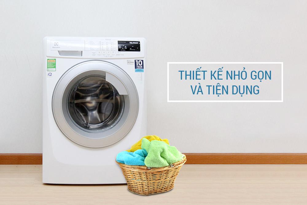 Thiết kế nhỏ gọn và tiện dụng của máy giặt cửa ngang Electrolux EWF12843