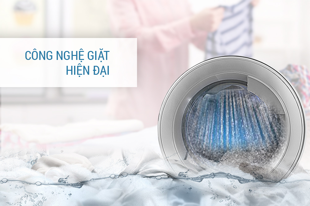 công nhệ giặt hiện đại của máy giặt cửa ngang Electrolux EWF12843