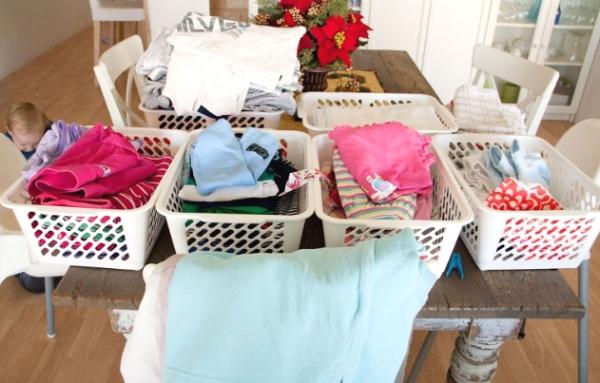phân loại đồ trước khi cho vào máy giặt