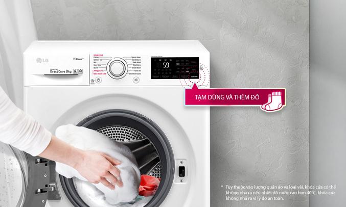 chức năng thêm đồ giặt tiện lợi