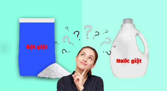 Nên lựa chọn sử dụng bột giặt hay nước giặt thì tốt hơn ???