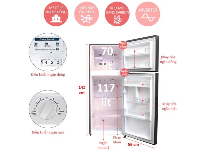 Tủ lạnh Inverter LG GN-L205S 187 lít có tốt không ?, vì sao bán chạy nhất