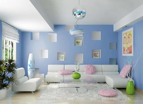 Lựa chọn màu sắc của tường và đồ dùng có sự tương đồng nhau