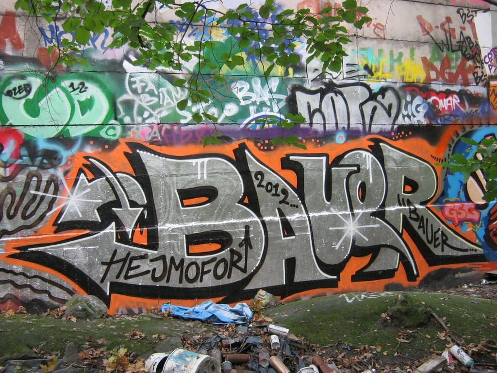 Bức tường mang màu sắc vui vẻ, rung cảm sắc nét