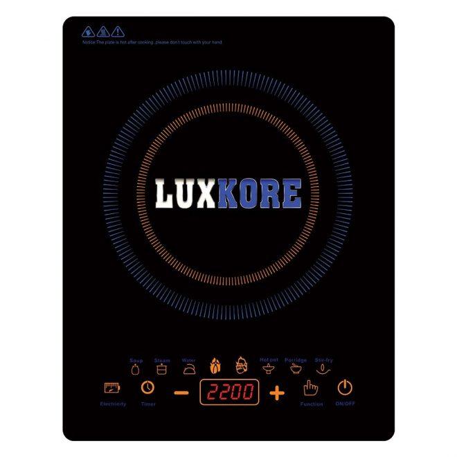 Bếp điện từ đơn Luxkore S43 + Tặng 1 nồi Inox nắp kính đa năng
