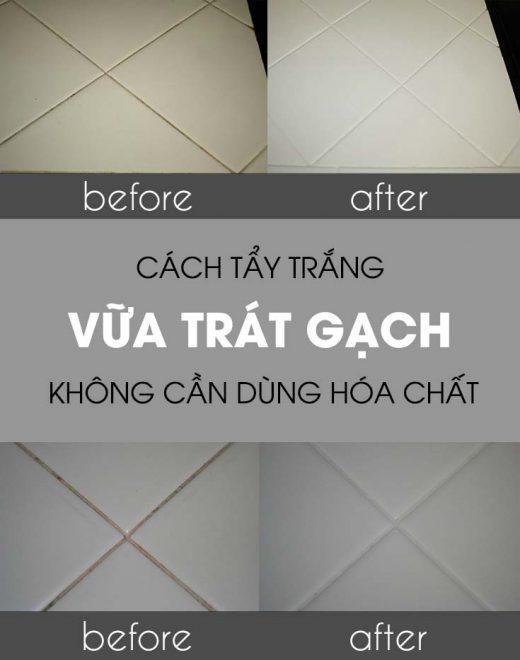Cách tẩy trắng đường ron trên sàn gạch đơn giản nhất 1