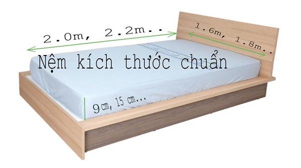 Lựa chọn kích thước phù hợp với chiếc giường
