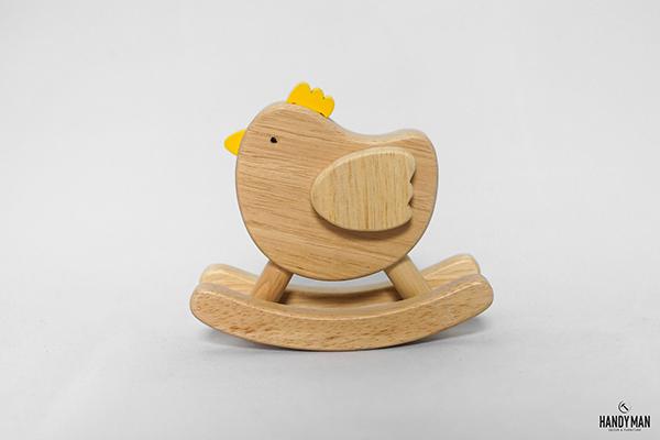 Con gà bằng gỗ đẹp