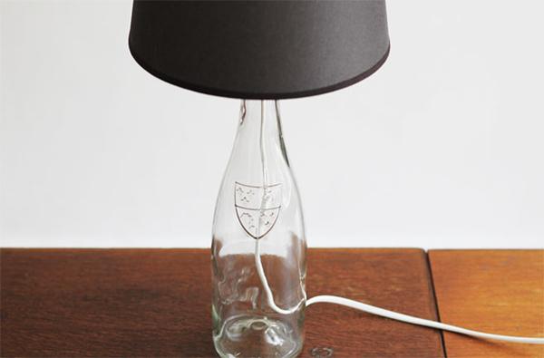 Đèn ngủ từ chai thủy tinh