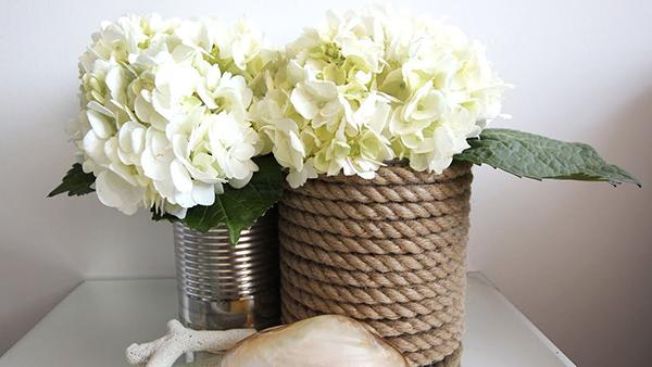 Giỏ hoa handmade làm từ dây thừng