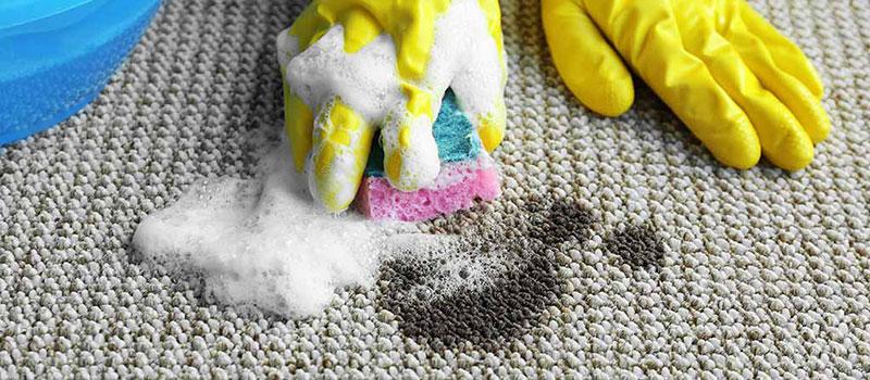 Vết dầu loang lổ trên thảm
