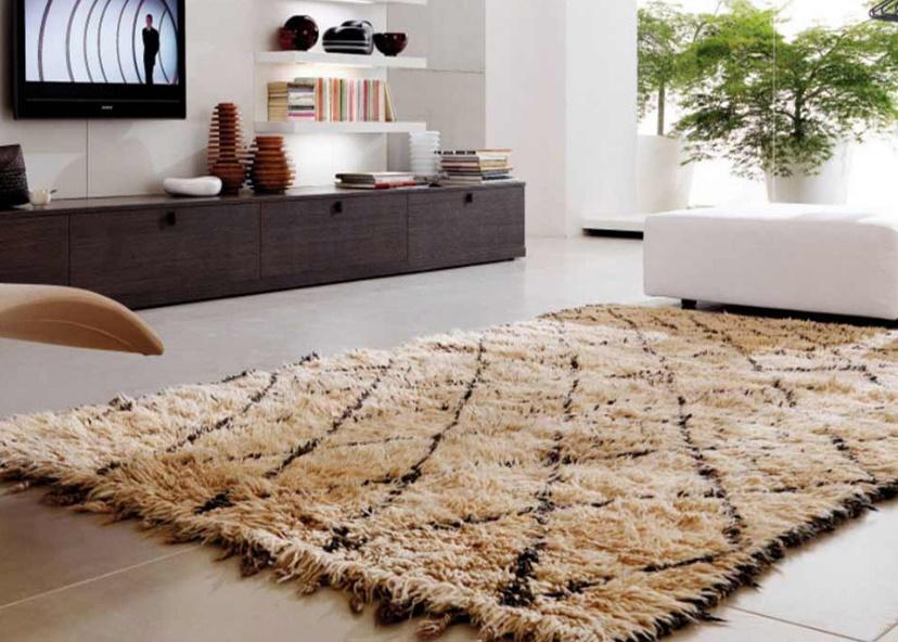 Thảm len mềm mại nhưng không tẩy rửa bằng chất tẩy