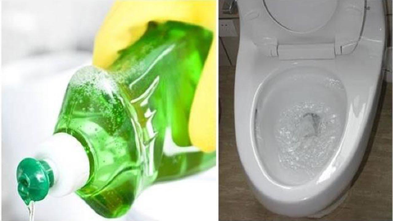 Sử dụng dầu rửa bát và nước ấm