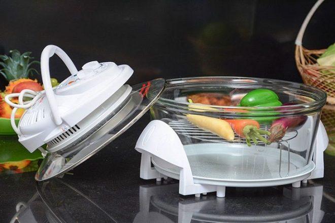 Lò nướng thủy tinh có nguyên lý hoạt động khá dễ hiểu