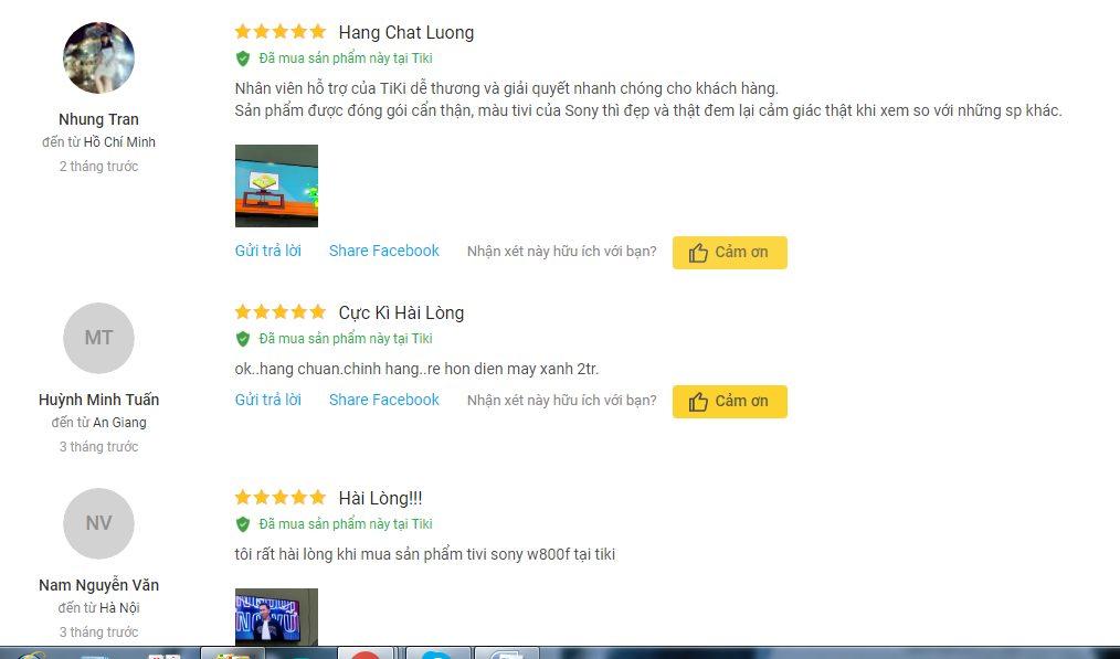 đánh Giá Người Dùng Về Android Tivi Sony Full HD 43 Inch KDL 43W800F