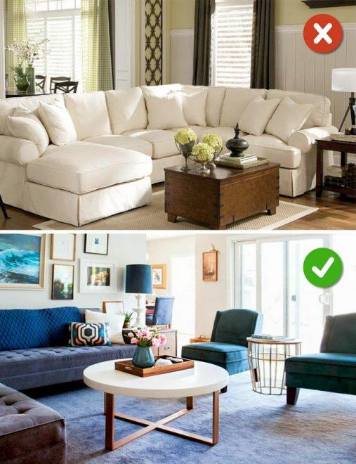15 lỗi bố trí nội thất phòng khách mà gia đình nào cũng thường mắc phải - Ảnh 3.