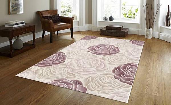 Thảm lót sàn hoa hồng
