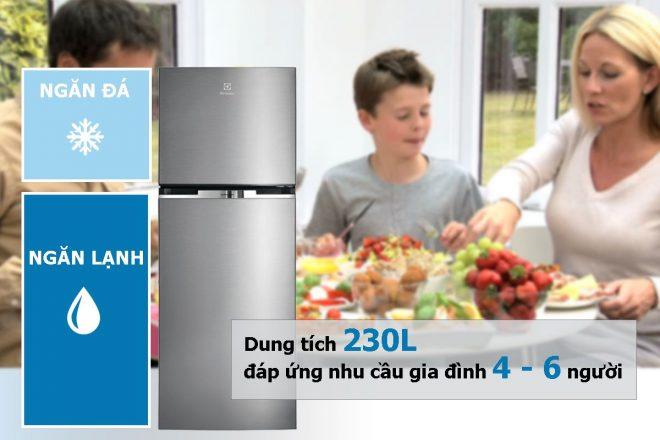 Đánh giá tủ Lạnh Inverter Electrolux ETB2300MG 230 lít