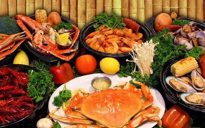 Đồ hải sản tuy ngon nhưng không thích hợp khi có kinh nguyệt