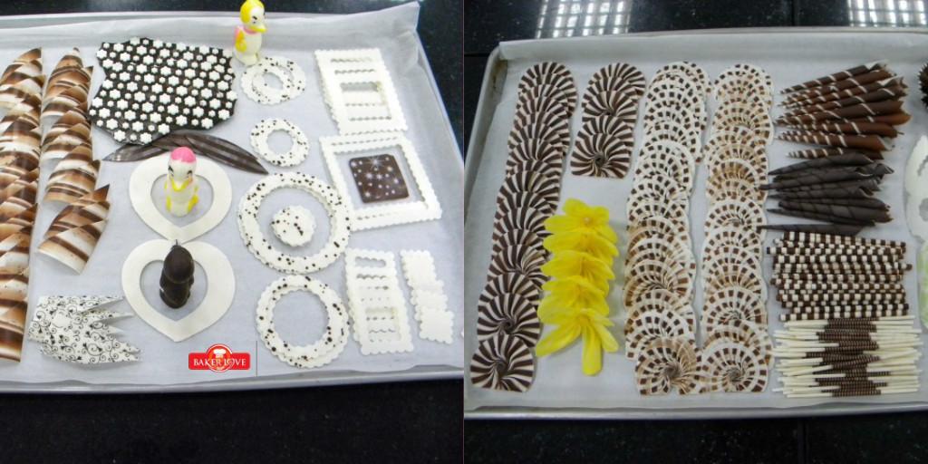 Mẫu hình bằng sôcôla để trang trí trên bánh ngọt