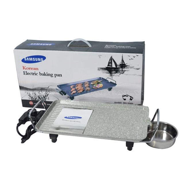 Bếp nướng điện không khói Samsung vân đá có thiết kế nhỏ gọn, phù hợp với mọi không gian.