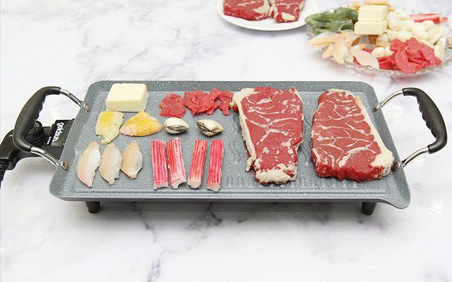 Đồ ăn nướng bằng bếp điện sẽ ngon hơn, không bị cháy và không có mùi khói