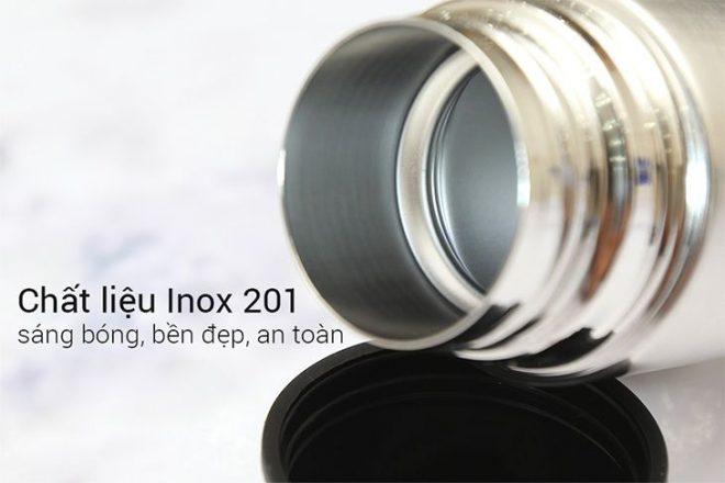 Hầu hết các hãng uy tín đều sản xuất bình giữ nhiệt với chất liệu innox 304 hoặc 201